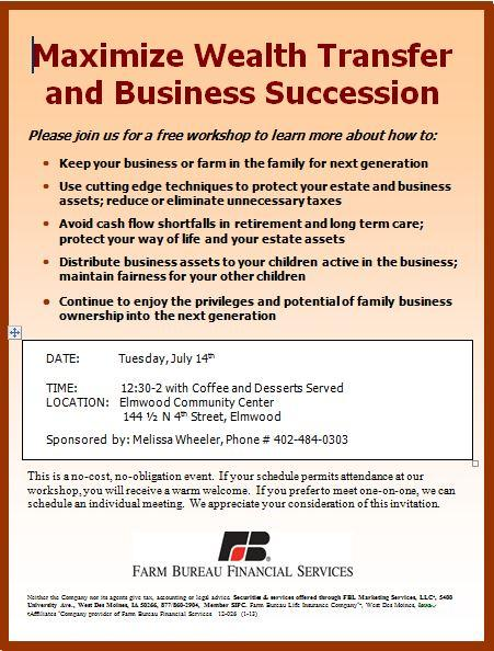Succession workshop