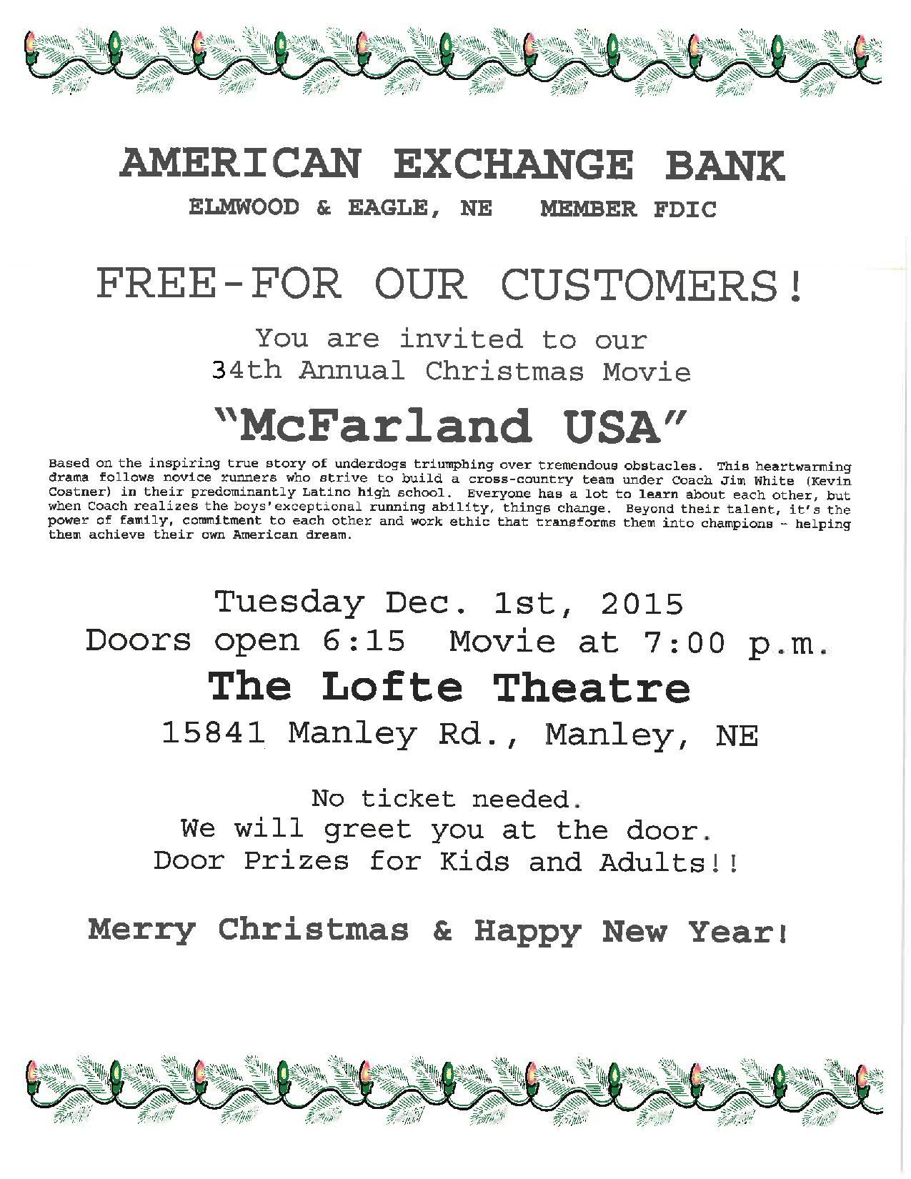 American Exchange Bank ad page 001