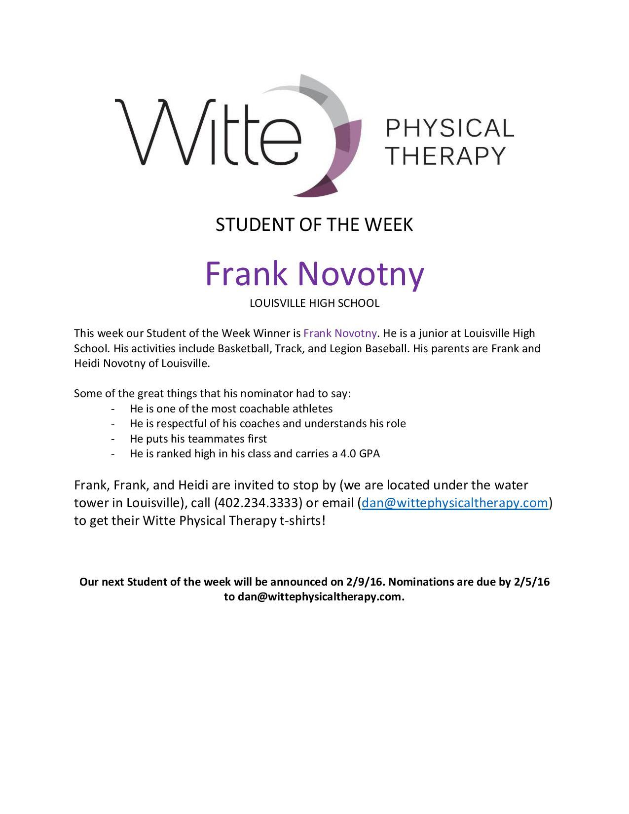Student of the Week Selection page 001