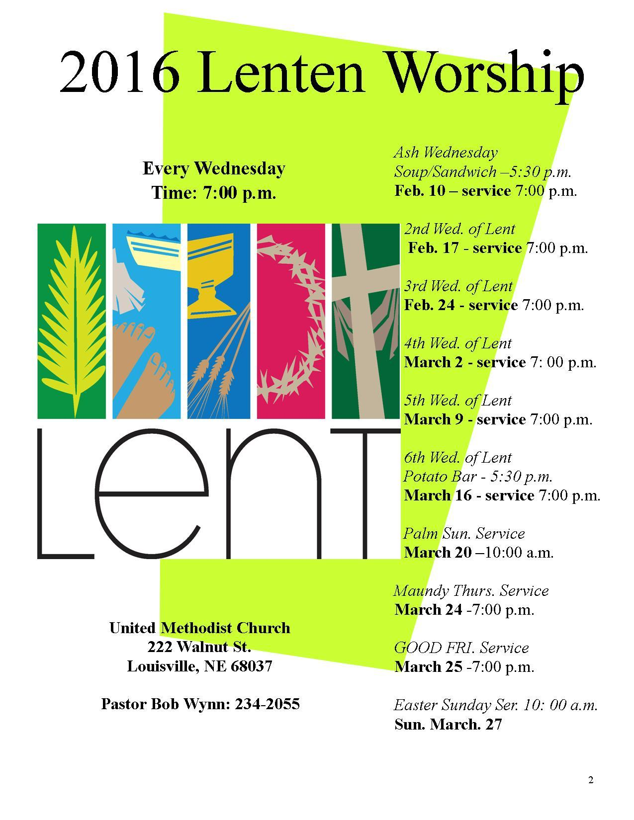 Lenten Flyer til March 28th