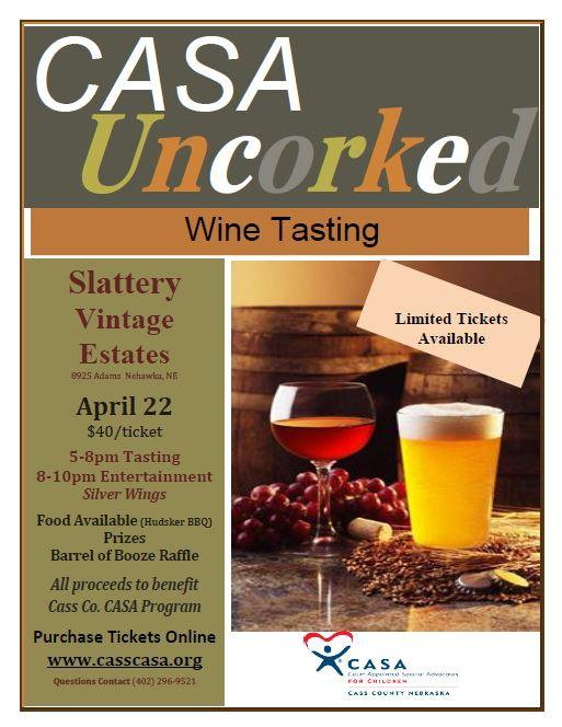 wine tasting fund raiser
