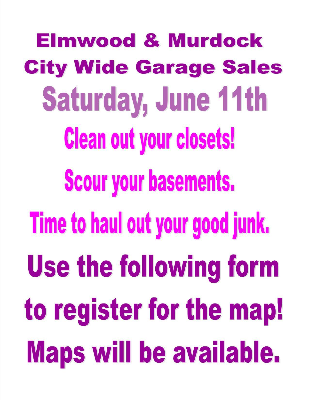 Elmwood Garage Sale