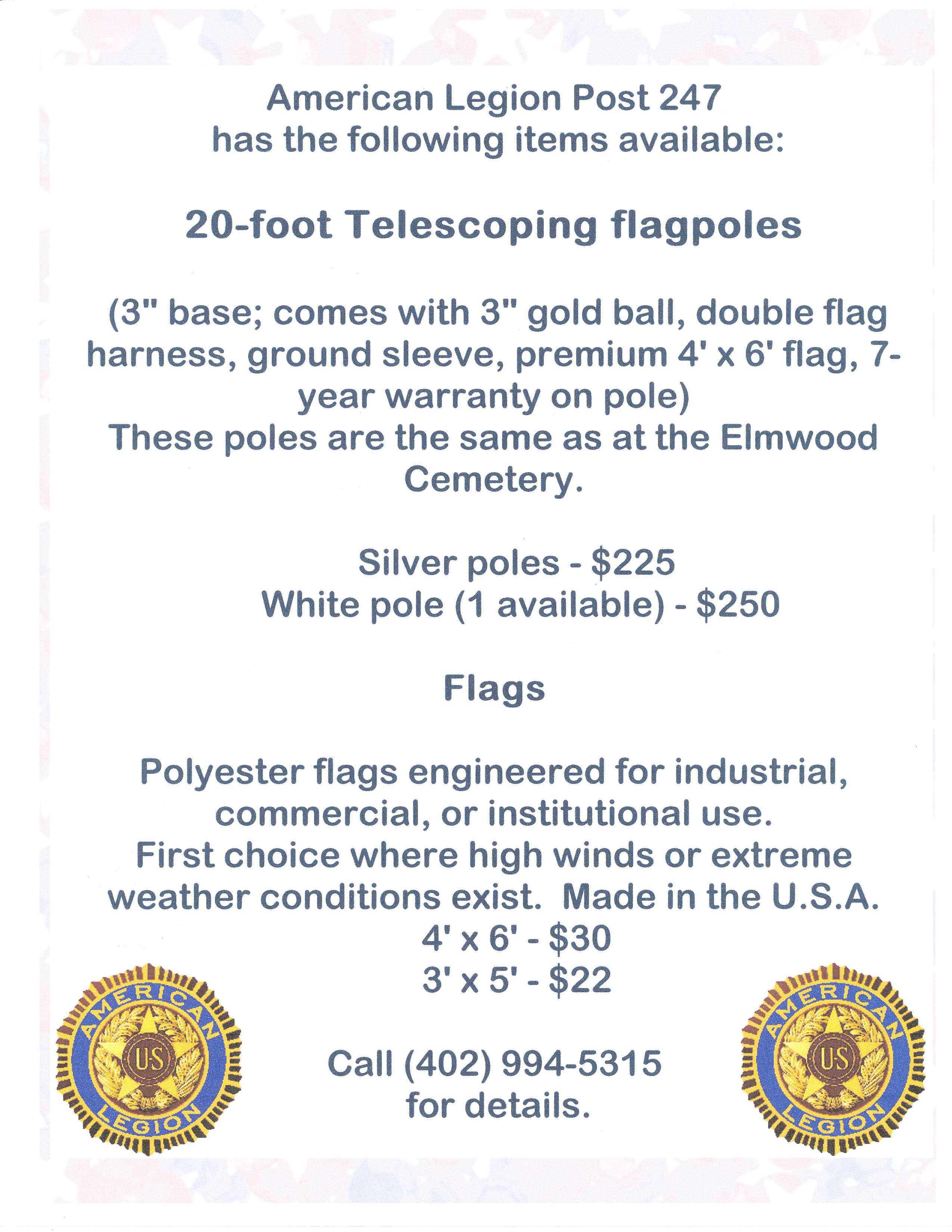 Flagpoles for sale