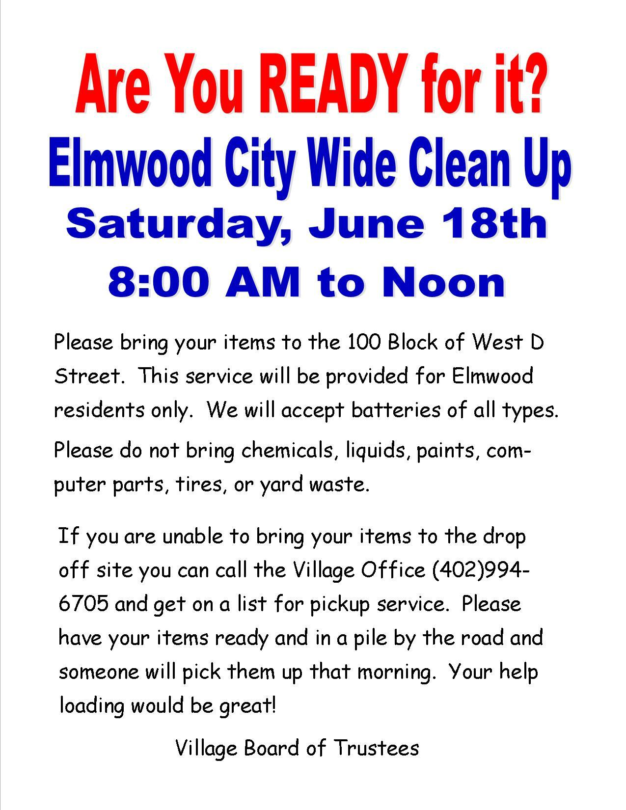 Elmwood Clean Up