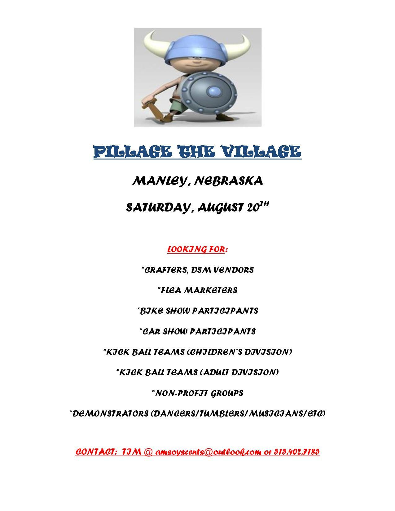PILLAGE THE VILLAGE flyer page 001