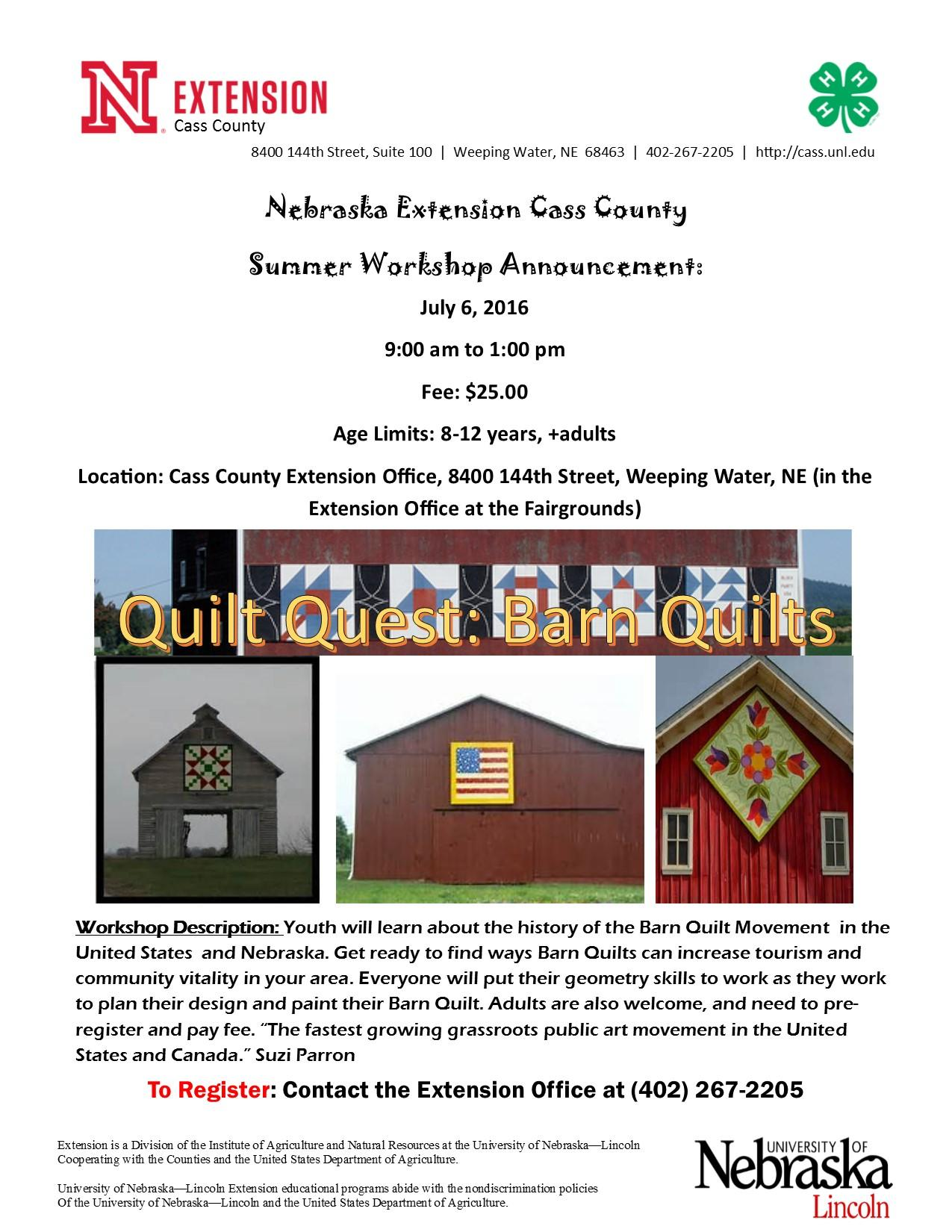 Barn Quilts flyer