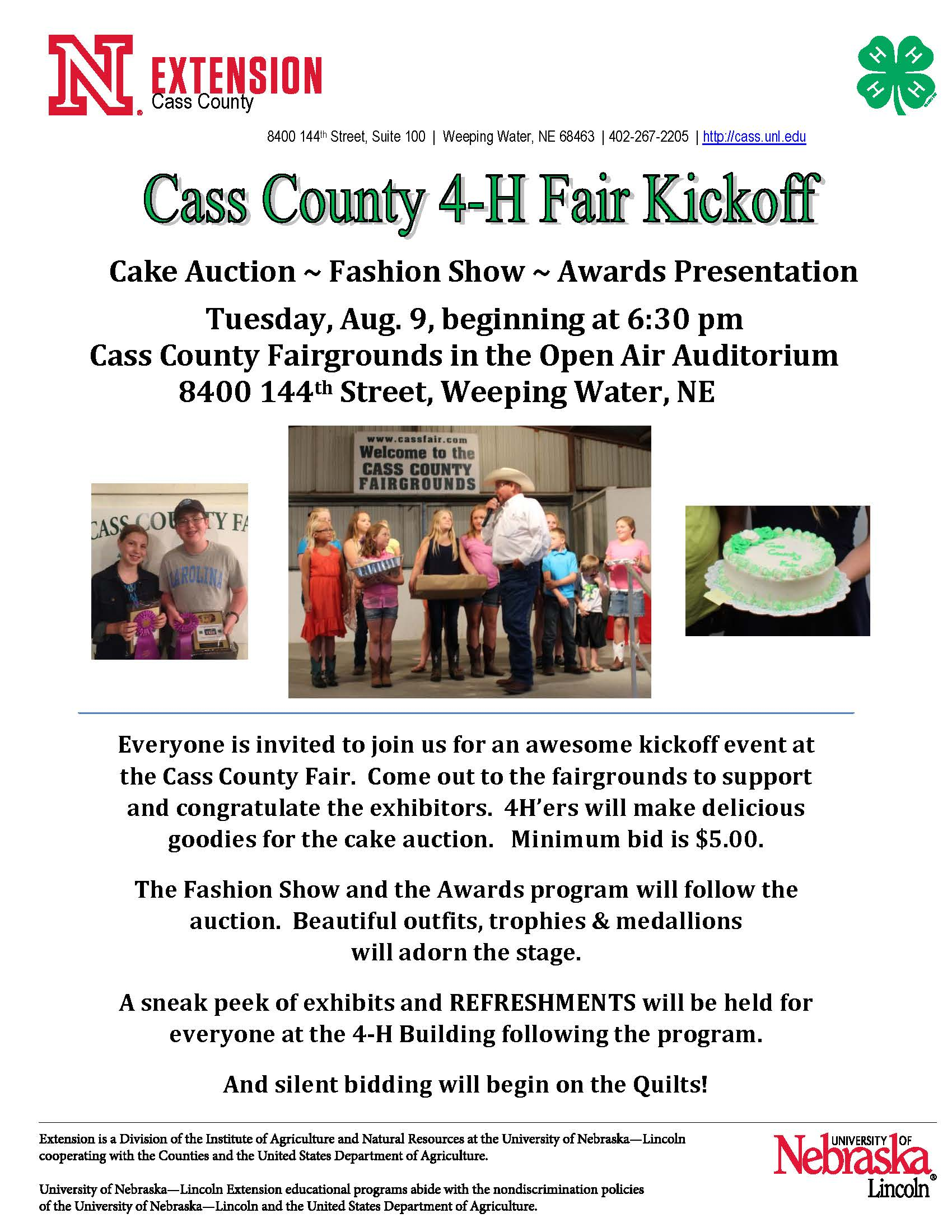 2016 Fair Kickoff Event poster and flyer Page 2