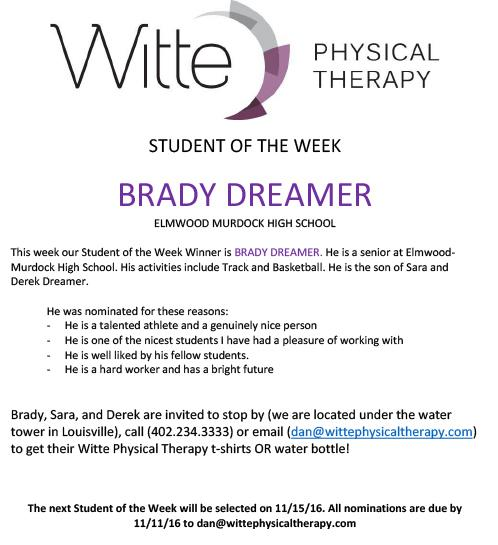 Student of the Week Selection Dreamer