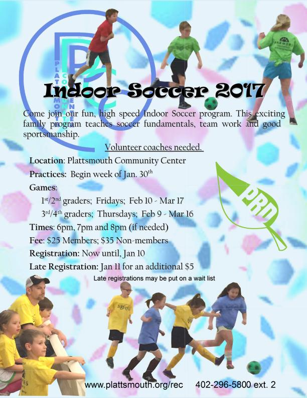 Indoor Soccer Flyer 2017