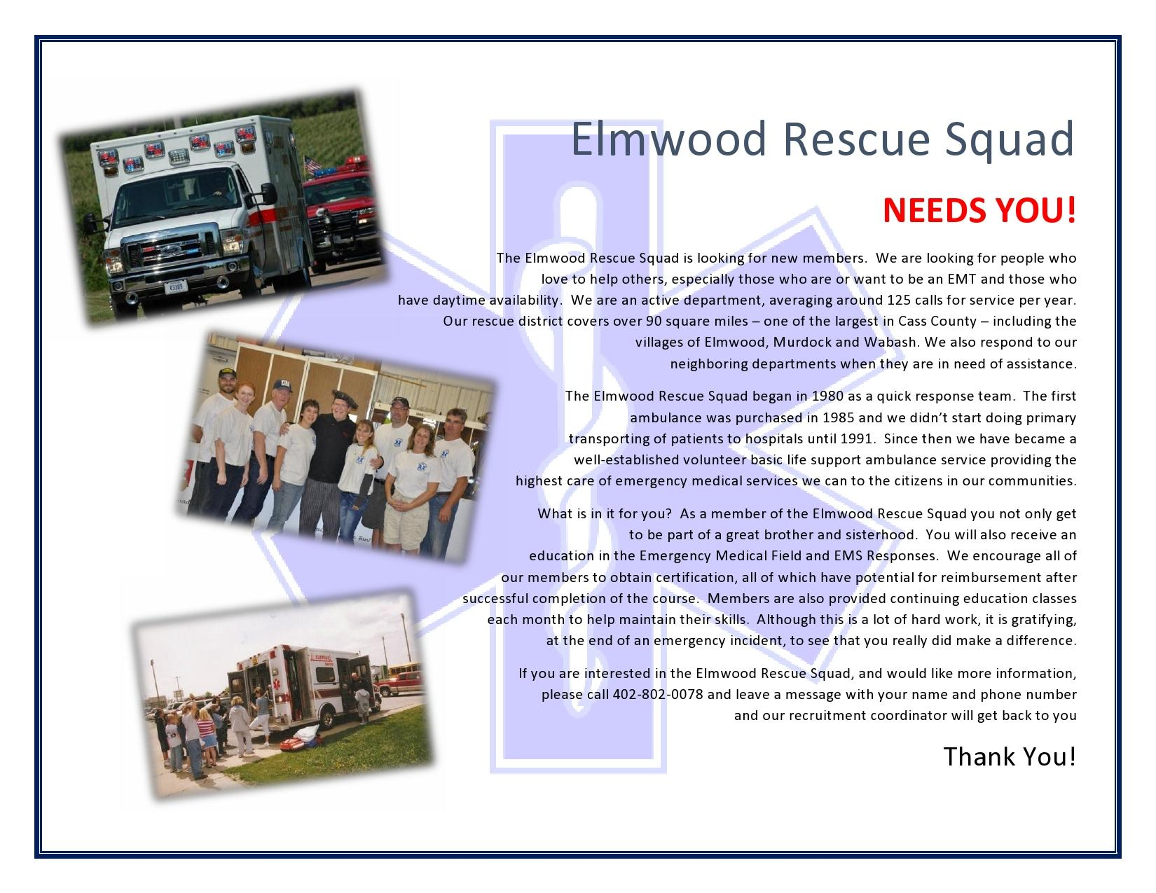 Elmwood Rescue Recruitment