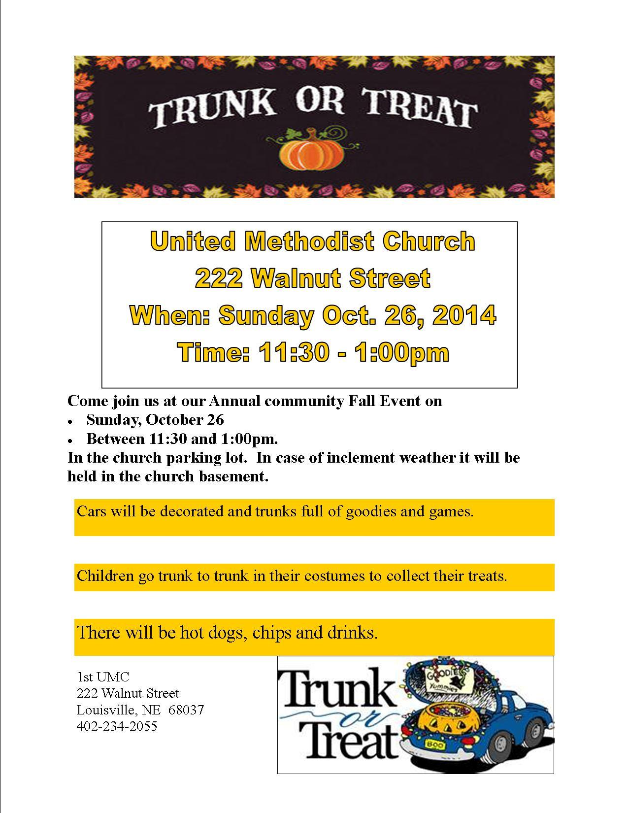 Trunk and Treat 2014