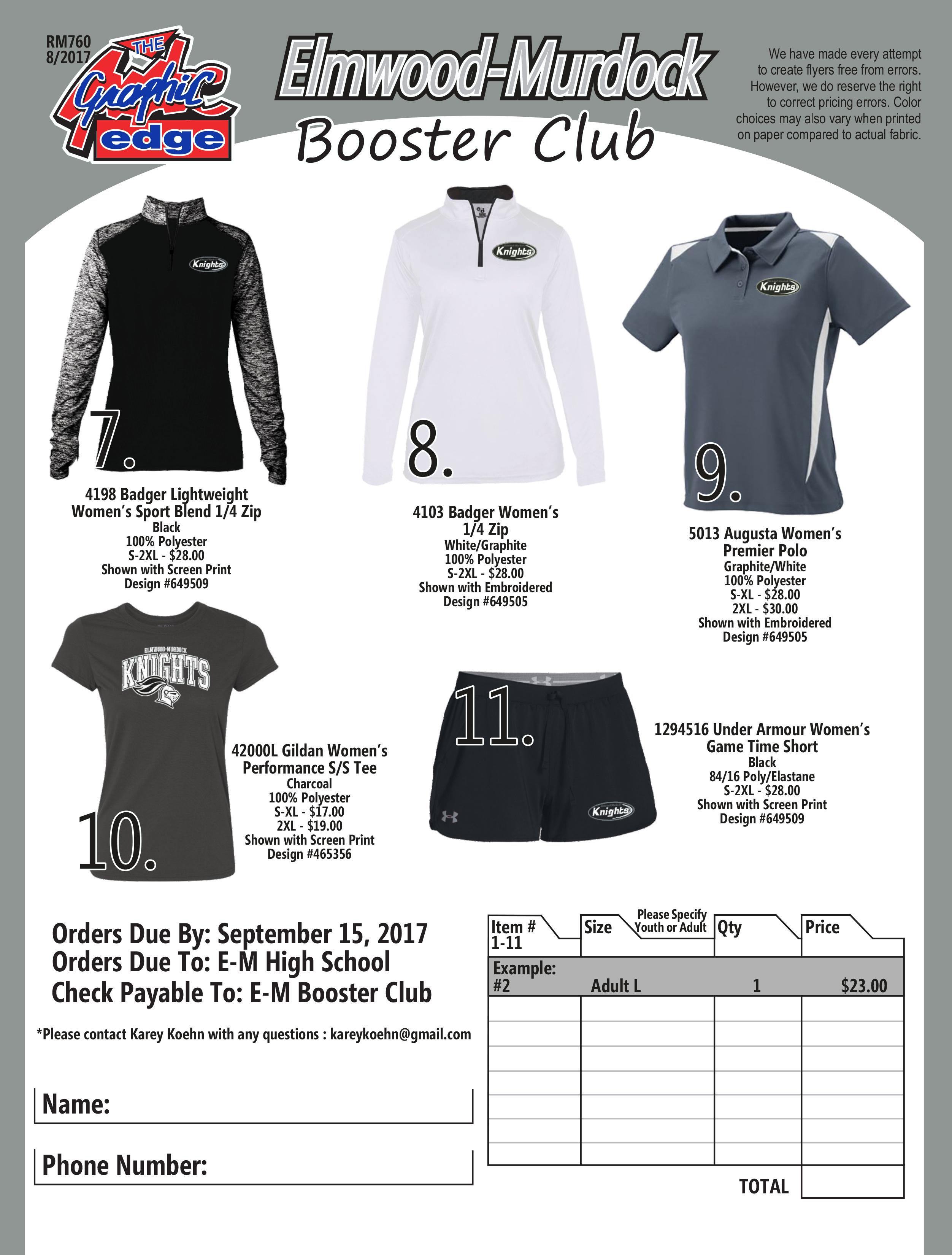 2017 Booster Club Clothing Order Final Back