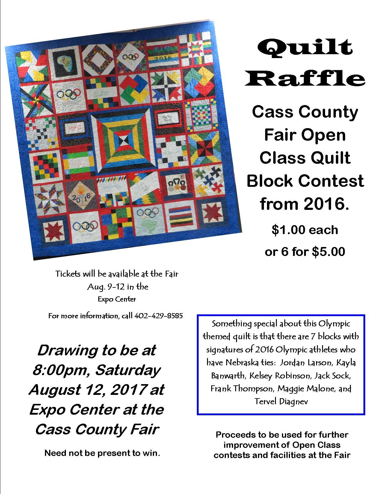 Quilt Raffle Poster