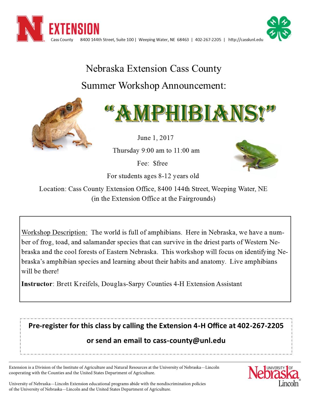 Amphibians workshop flyer 1