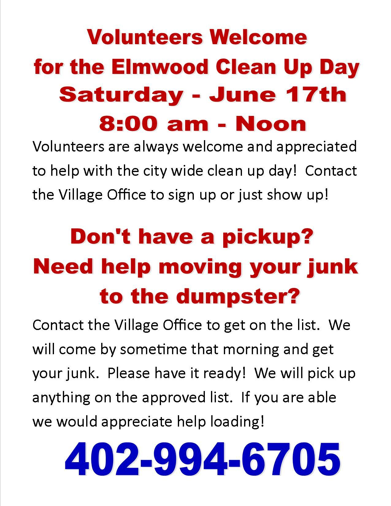 Clean up day volunteers