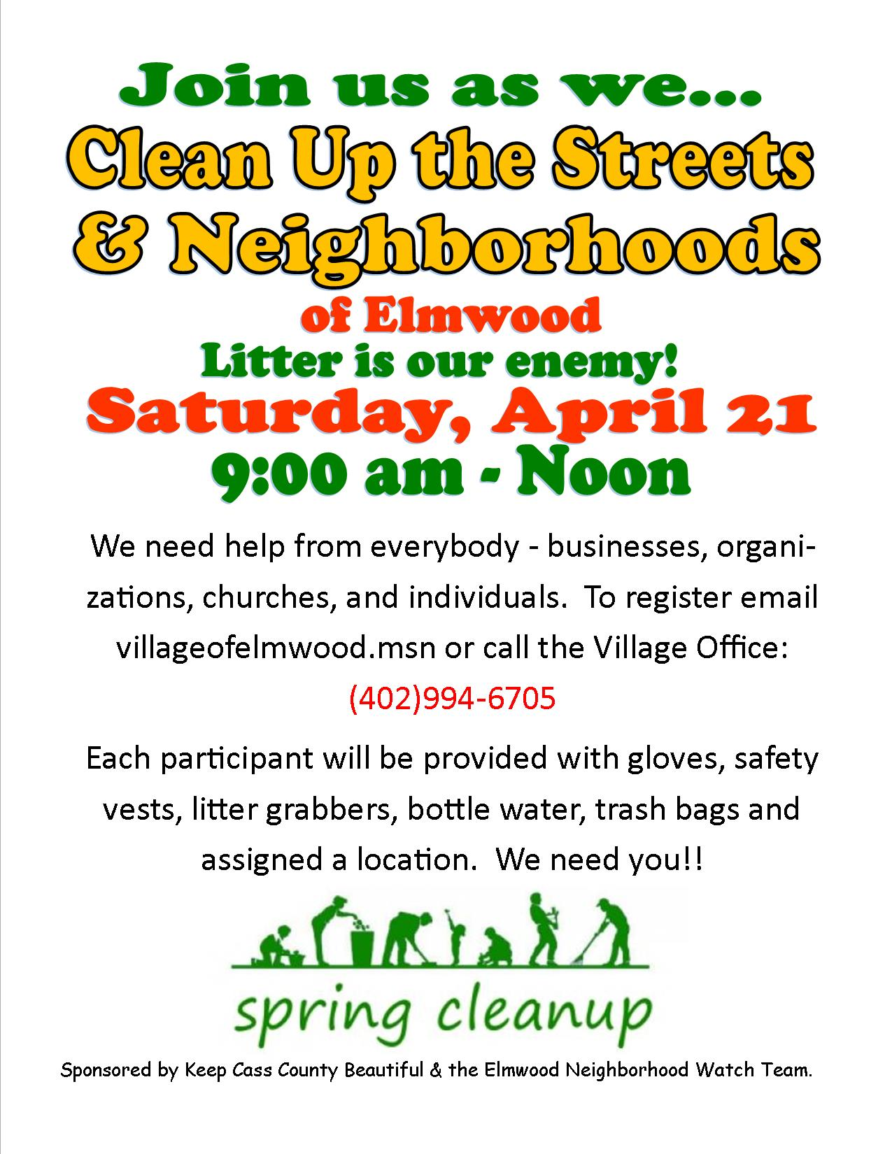 Elmwood Clean Up the Streets NWP