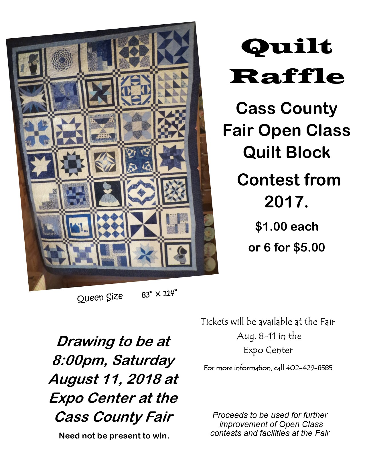 2018 Quilt Raffle Poster