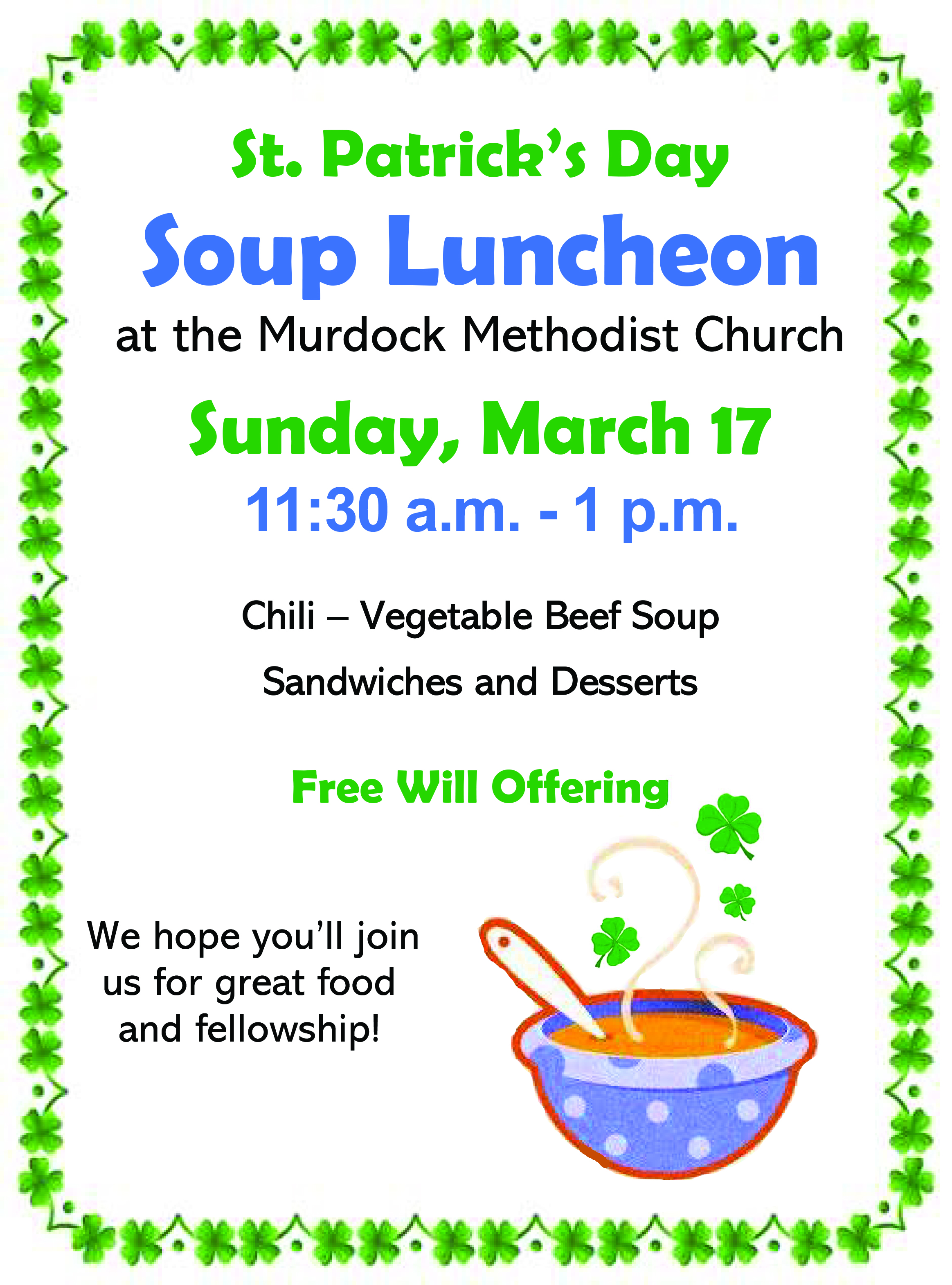 Soup Luncheon Flyer