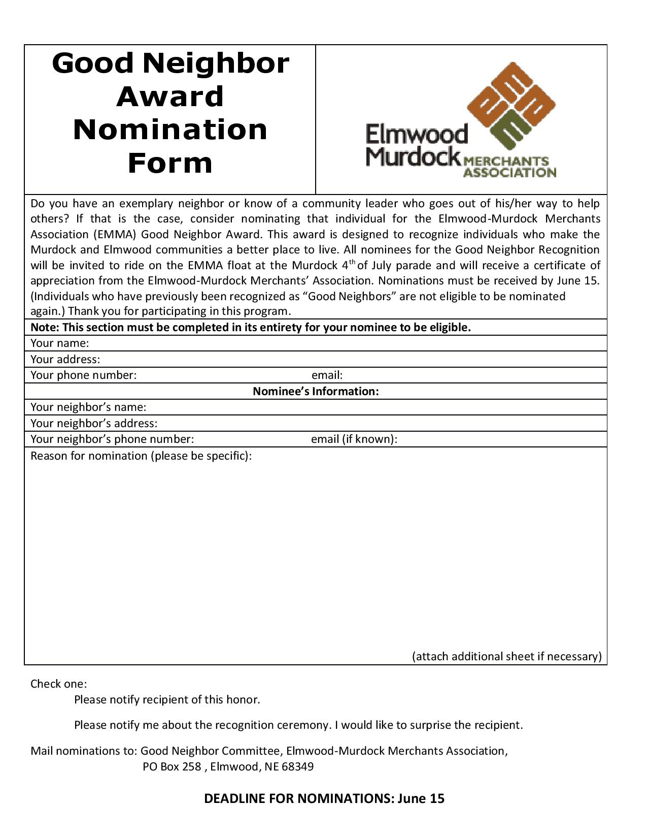 Good Neighbor Award Nomination Form 2019 page 001