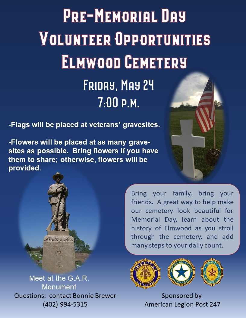 2019 Memorial Day Volunteer Opportunities