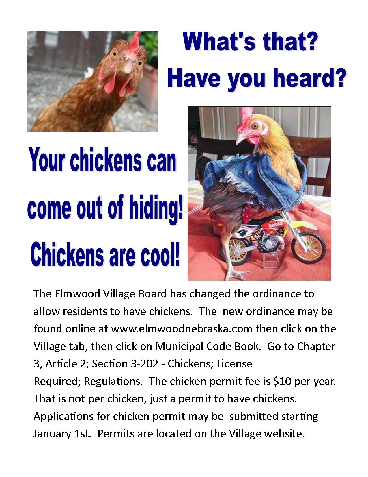 Flyer about Chickens