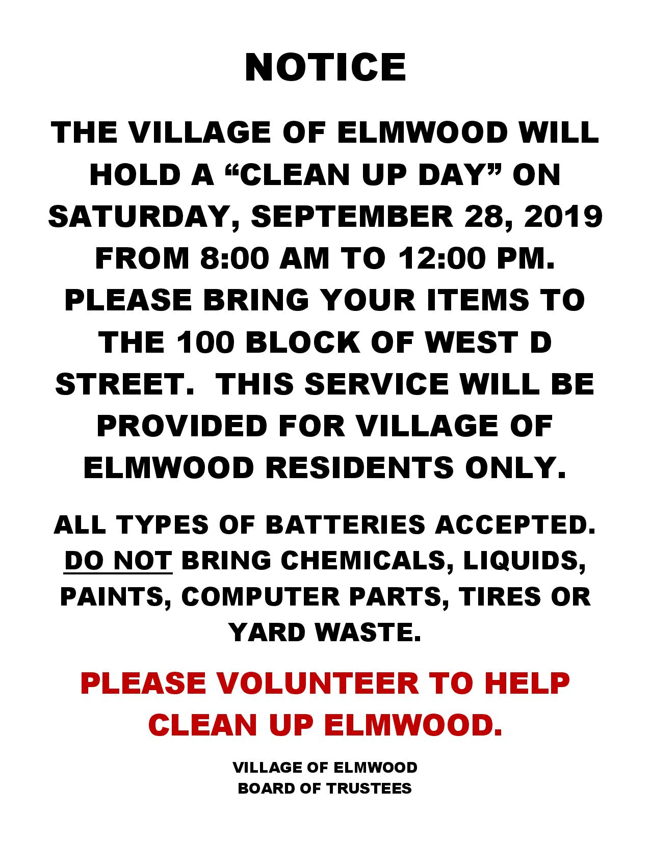 2019 Clean up day Notice page 001